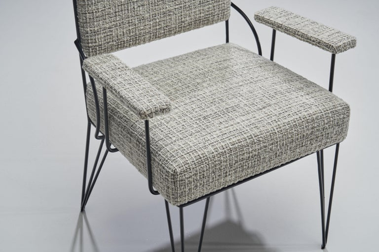 Pair of Brazilian Iron Armchairs, Brazil, 1950s For Sale 4
