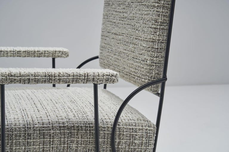 Pair of Brazilian Iron Armchairs, Brazil, 1950s For Sale 6