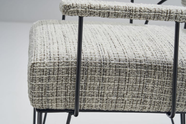 Pair of Brazilian Iron Armchairs, Brazil, 1950s For Sale 9