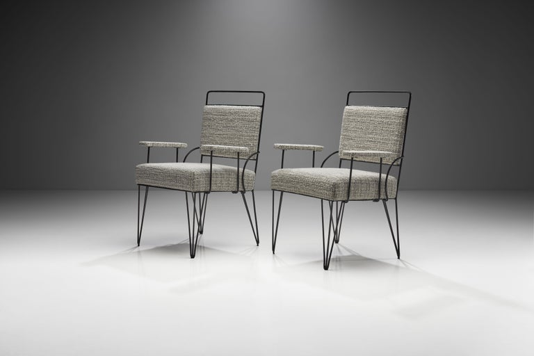 Pair of Brazilian Iron Armchairs, Brazil, 1950s In Good Condition For Sale In Utrecht, NL