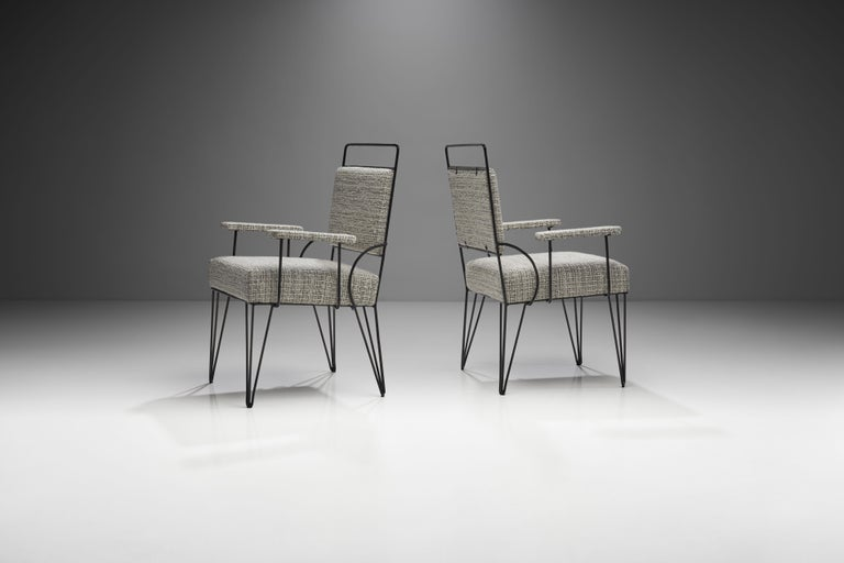 Mid-20th Century Pair of Brazilian Iron Armchairs, Brazil, 1950s For Sale