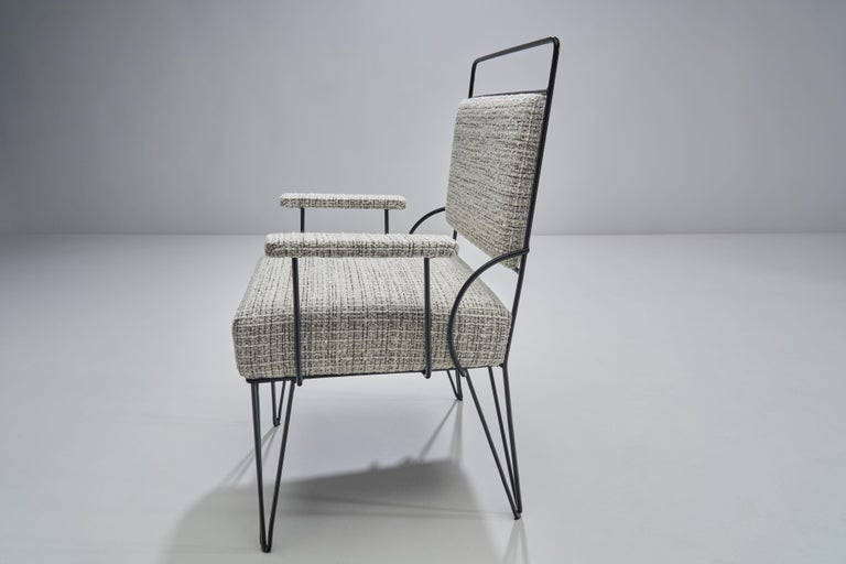 Pair of Brazilian Iron Armchairs, Brazil, 1950s For Sale 1