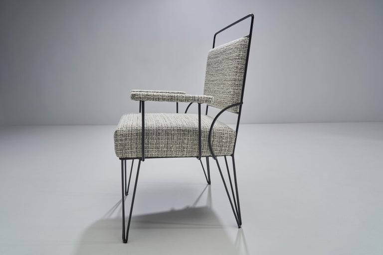 Pair of Brazilian Iron Armchairs, Brazil, 1950s For Sale 2