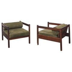 Pair of Brazilian Midcentury Rosewood Armchairs by Celina Decorações, 1960s