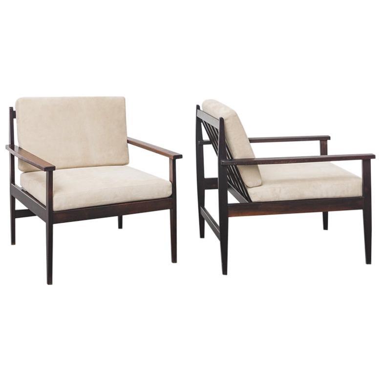 Pair of Brazilian Midcentury Rosewood Armchairs by Celina Decorações, 1960s