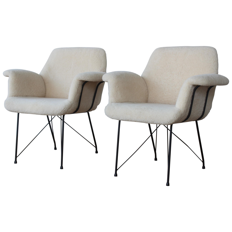 Pair of Brazilian Modern Chairs by Carlo Hauner and Martin Eisler, 1955