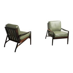 Pair of Brazilian Rosewood Armchair by Liceu De Artes e Officios, Midcentury