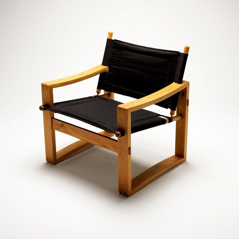 Pair of Børge Jensen Safari Chairs, Bernstorffsminde Møbelfabrik, Denmark, 1960s 3
