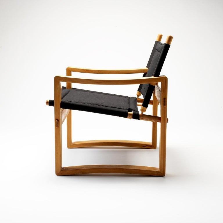 Pair of Børge Jensen Safari Chairs, Bernstorffsminde Møbelfabrik, Denmark, 1960s 4