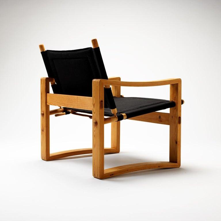 Pair of Børge Jensen Safari Chairs, Bernstorffsminde Møbelfabrik, Denmark, 1960s 5