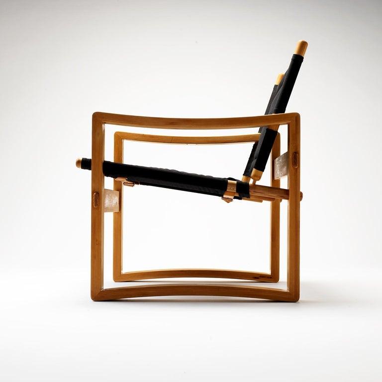 Mid-Century Modern Pair of Børge Jensen Safari Chairs, Bernstorffsminde Møbelfabrik, Denmark, 1960s
