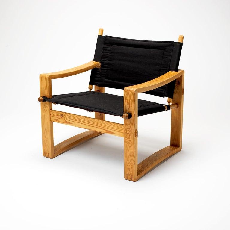 Pair of Børge Jensen Safari Chairs, Bernstorffsminde Møbelfabrik, Denmark, 1960s 1