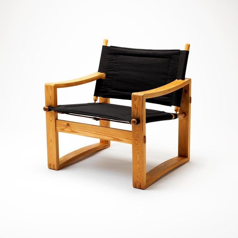 Pair of Børge Jensen Safari Chairs, Bernstorffsminde Møbelfabrik, Denmark, 1960s 2