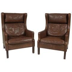 Pair of Børge Møgensen-Style Armchairs