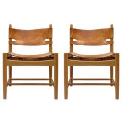 Pair of Børge Mogensen 'Hunting' Chairs, Model 3237