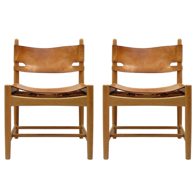 Pair of Børge Mogensen 'Hunting' Chairs, Model 3237 For Sale