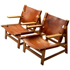Pair of Børge Mogensen Model 2225 Armchairs, Denmark, 1967
