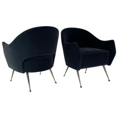 Pair of Briance Chairs, Black Nickel by Bourgeois Boheme Atelier
