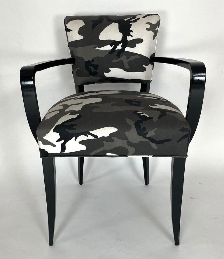 Pair of Bridge Chairs, Urban Camo For Sale 4