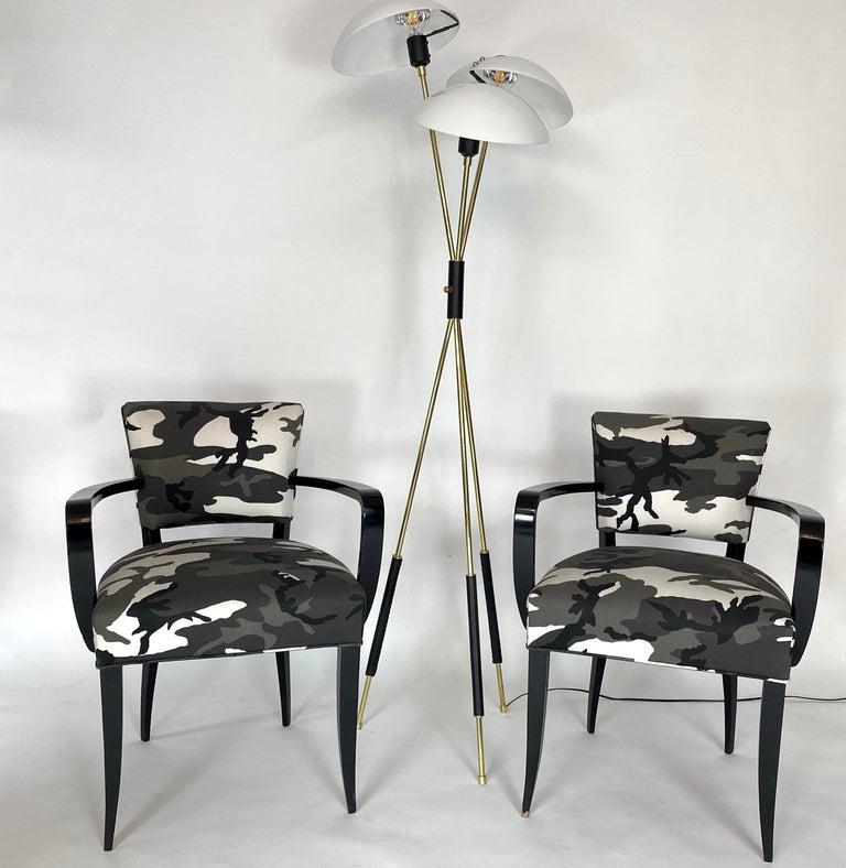 Mid-20th Century Pair of Bridge Chairs, Urban Camo For Sale