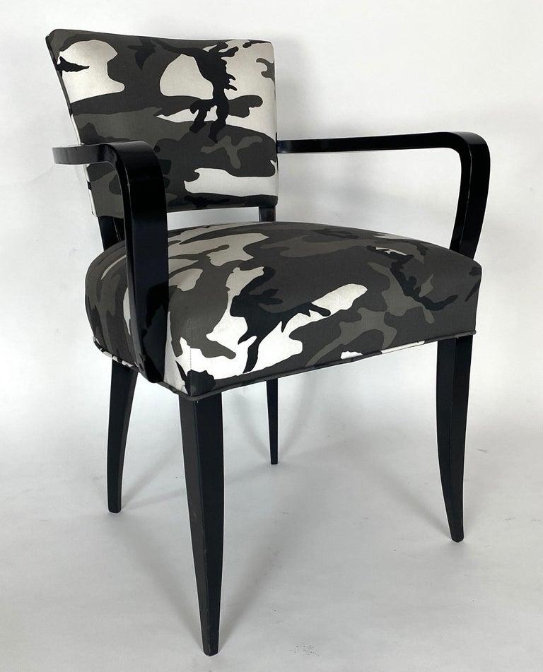 Fabric Pair of Bridge Chairs, Urban Camo For Sale