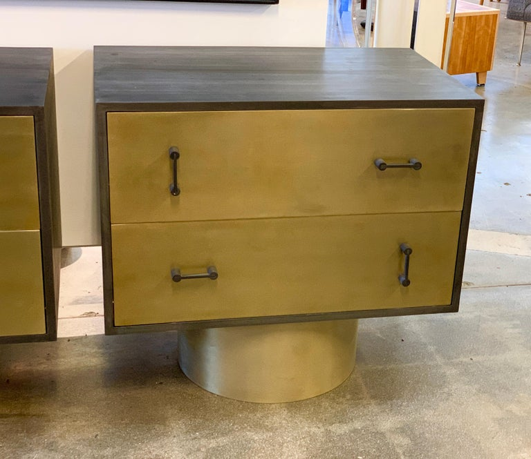 Contemporary Pair of Bridges over Time Originals Nightstands For Sale