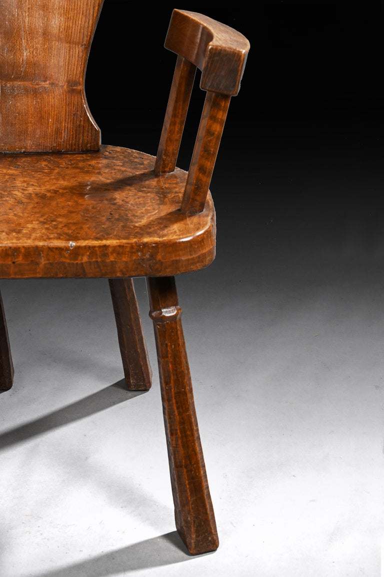 20th Century Pair of British Oak and Pollard Oak Jack Grimble Chairs For Sale
