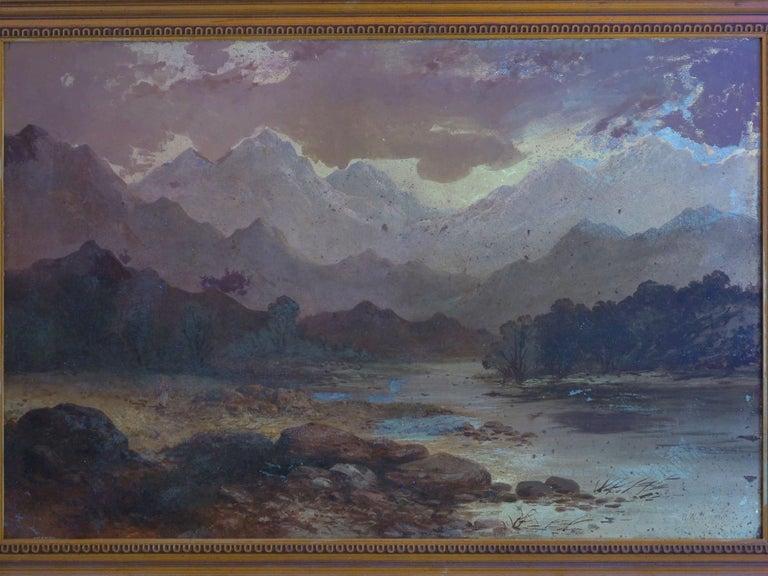 Pair of British School '19th Century' Scottish Highland Landscape Paintings For Sale 5
