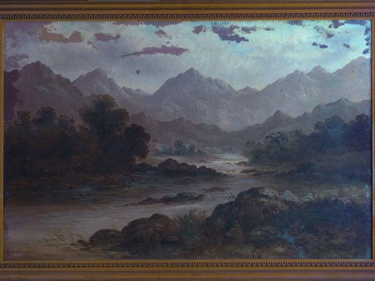 Pair of British School '19th Century' Scottish Highland Landscape Paintings For Sale 6