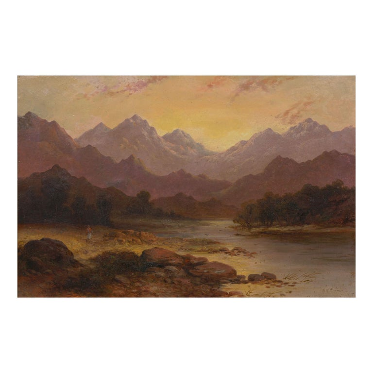 Pair of British School '19th Century' Scottish Highland Landscape Paintings For Sale 9