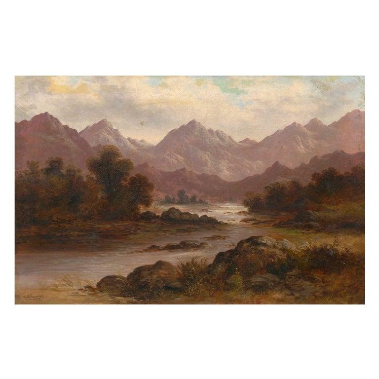 Pair of British School '19th Century' Scottish Highland Landscape Paintings For Sale 10