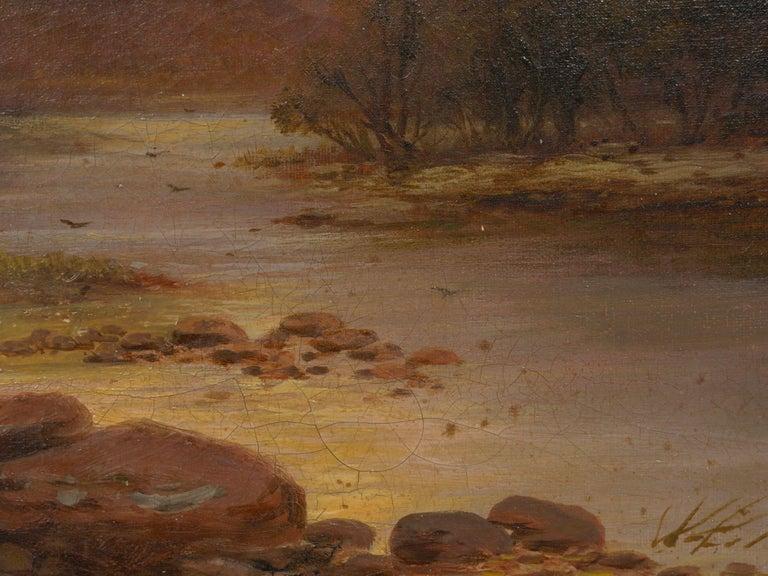 Pair of British School '19th Century' Scottish Highland Landscape Paintings For Sale 11