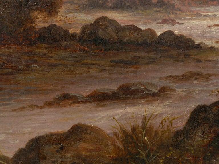 Pair of British School '19th Century' Scottish Highland Landscape Paintings For Sale 14