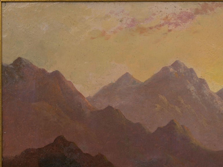 A nice pair of British School landscape paintings of the Scottish Highlands with powerful mountains under clear skies with a river running through the valley. Both are signed H. Williams, likely Harry Williams of Liverpool active between 1854 and