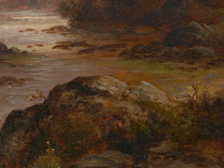 Pair of British School '19th Century' Scottish Highland Landscape Paintings For Sale 15