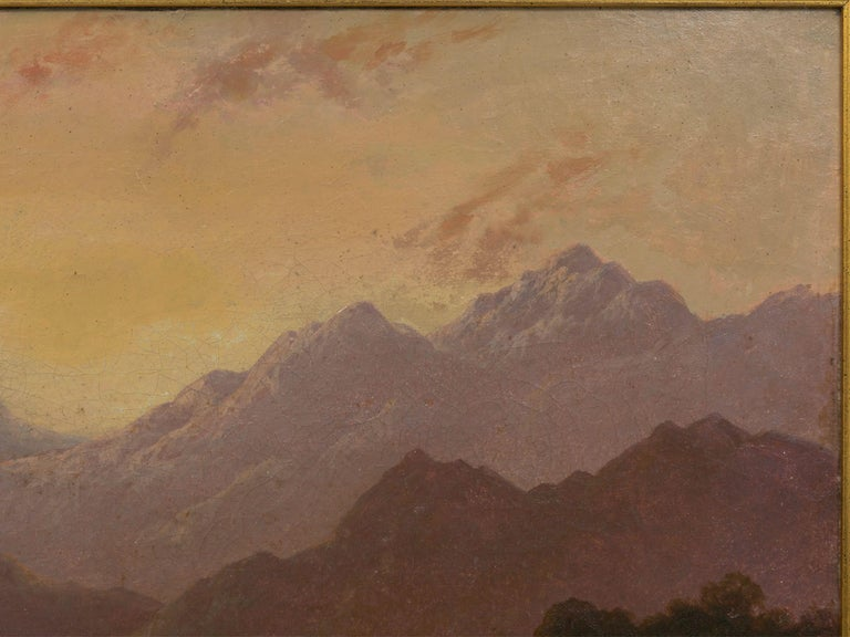 Hand-Painted Pair of British School '19th Century' Scottish Highland Landscape Paintings For Sale