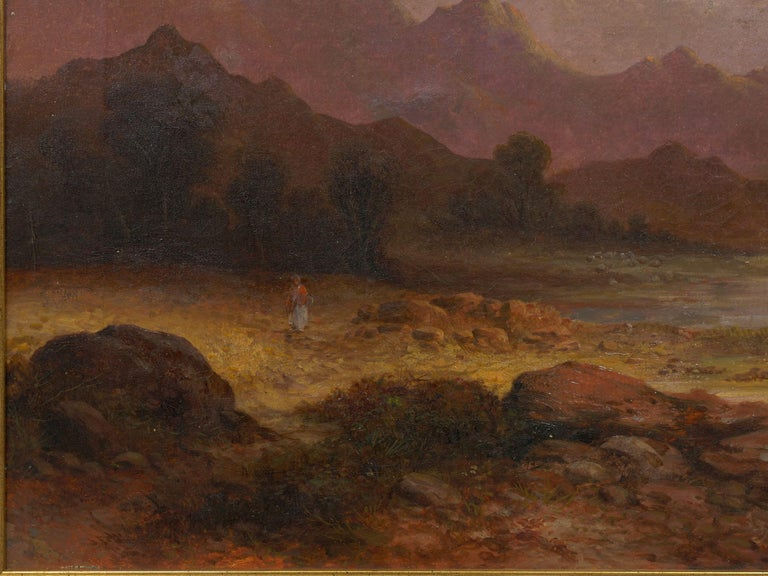 Pair of British School '19th Century' Scottish Highland Landscape Paintings In Fair Condition For Sale In Shippensburg, PA