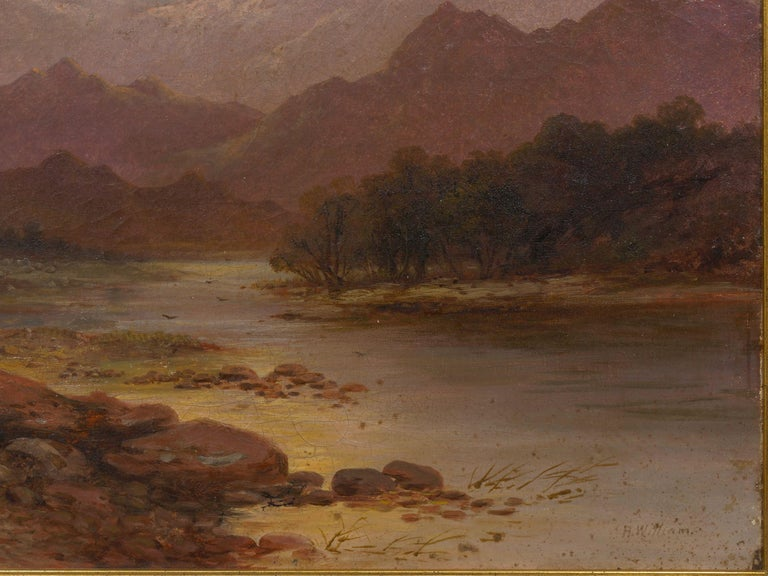 Canvas Pair of British School '19th Century' Scottish Highland Landscape Paintings For Sale