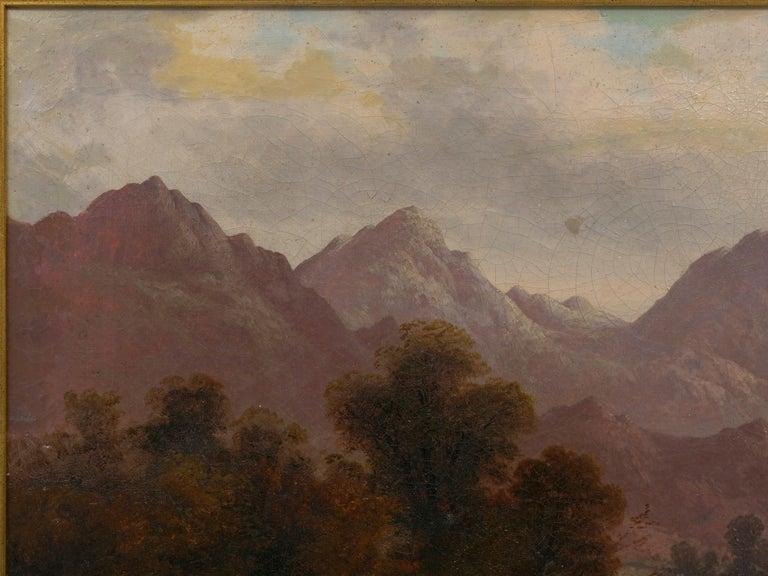 Pair of British School '19th Century' Scottish Highland Landscape Paintings For Sale 1