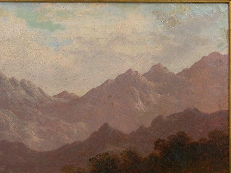Pair of British School '19th Century' Scottish Highland Landscape Paintings For Sale 2