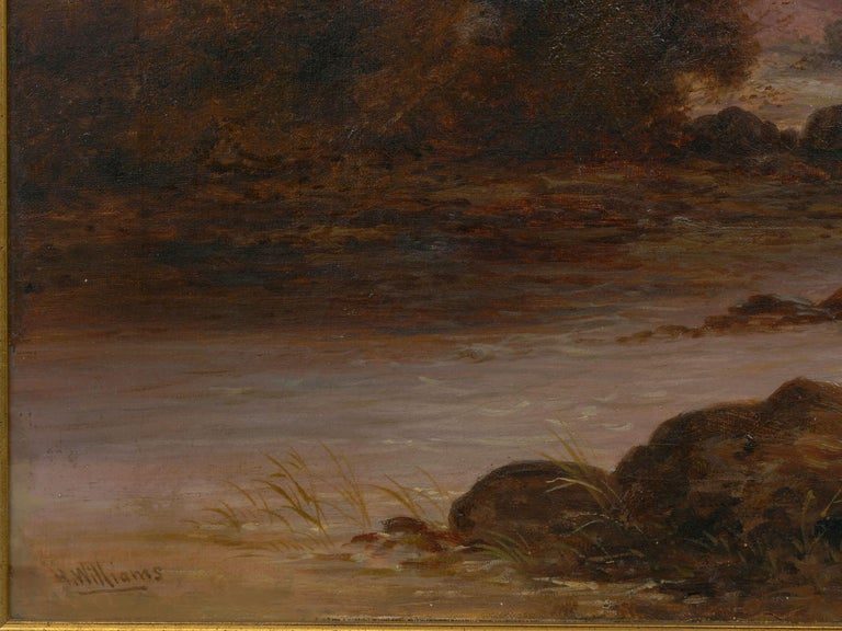 Pair of British School '19th Century' Scottish Highland Landscape Paintings For Sale 3