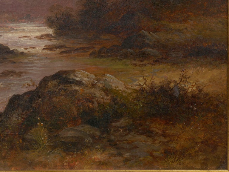 Pair of British School '19th Century' Scottish Highland Landscape Paintings For Sale 4