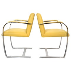 Pair of Brno Chairs by Ludwig Mies van der Rohe for Knoll Studio