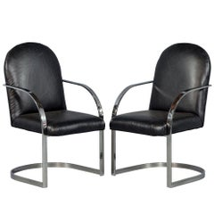 Pair of Brno Flat Bar Chairs in the Manner of Mies van der Rohe