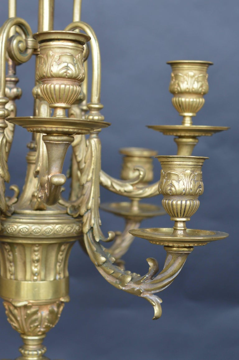 Pair of 19th century French candelabras.
