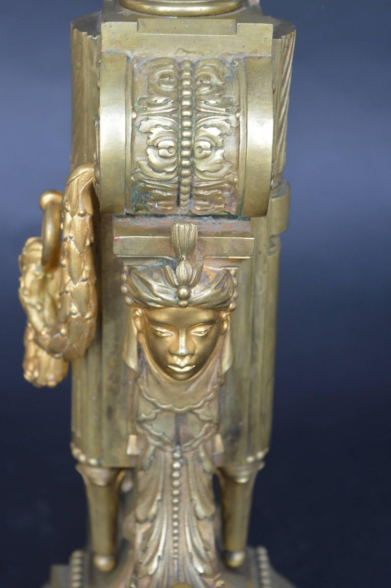 Pair of Bronze 19th Century Candelabras In Good Condition For Sale In Los Angeles, CA