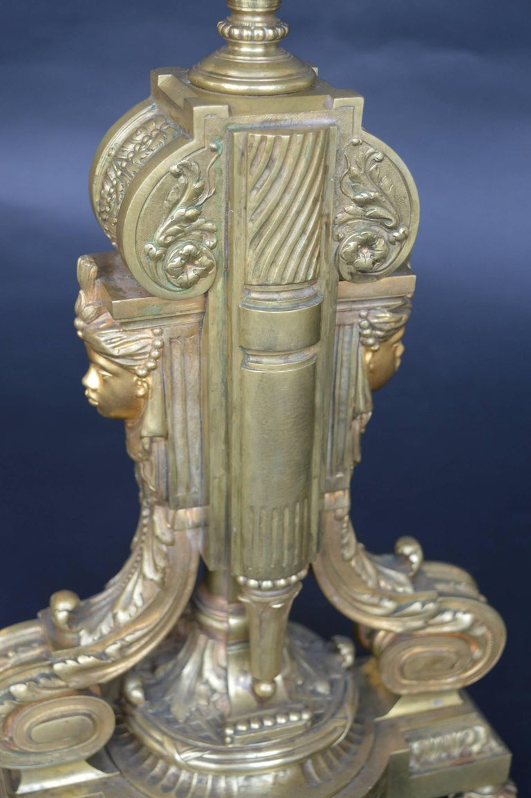 Pair of Bronze 19th Century Candelabras For Sale 2