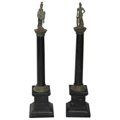 Pair of Bronze and Marble Grand Tour Souvenirs