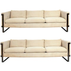 Pair of Bronze Armed Sofas