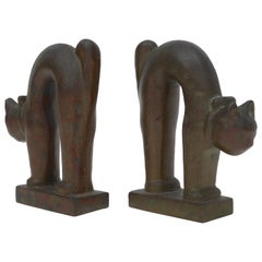 Pair of Bronze Art Deco Bookends